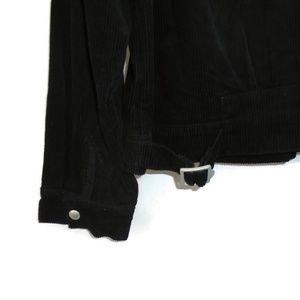 Blank NYC Jackets & Coats - BlankNYC Corduroy Jacket Black Lined Silver Snap